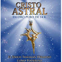 Cristo Astral En Oro De 14k, Protegete De Todo Mal, Con El