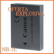 Bateria Recargable Nb-3l Camara Canon Digital 30 600 L2 700
