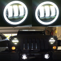 Jeep Aosi Pair 4 Inch Round Led Fog Headlights 30w Projector