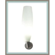 Línea Para Baño - Lámpara Cilindro, Herraje Gris Y Cristal