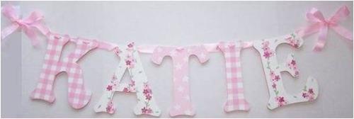 Mis primeras letras para decorar el cuarto del bebe otros for Accesorios habitacion bebe