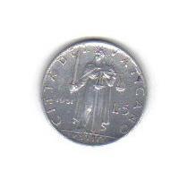 5 Liras 1951 Moneda Del Vaticano Italia Papa Pio Xll - Vbf