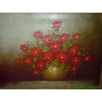 Oleo Floral Antiguo