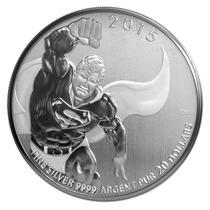 Moneda De Plata De 20 Dolares Canadienses Superman
