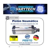 Piston Neumatico Festo 40x100 Usado Plc Allen Mecatronica