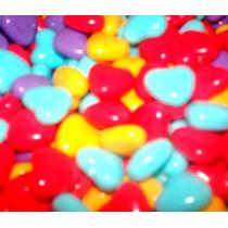 Corazon De Colores, Rojo, Blanco Menta Dulce 5 Kg. Chicleras