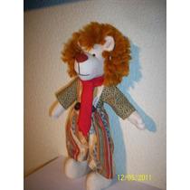 Chic Lion Muñeco De Manta Y Algodón 25 Cms Hecho A Mano