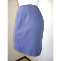 Falda Azul Tipo Ejecutiva Para Oficina!!! Fach119
