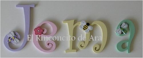 Letras De Decoracion Para Bebes ~ Hermosas Letras Para Decorar La Habitacion De Tu Bebe (Decoraci?n) a