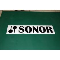 2 Stickers Vinil Sonor Logotipo Bateria Bombo Parche