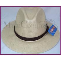 Elegante Sombrero Estilo Indiana Color Tabaco Morcon Toyo