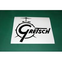 2 Stickers Vinil Gretsch Logotipo Bateria Bombo Parche