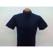 Camisas X Uniformes Gabardina Alg 100% M /corta Calidad+!!!!