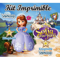 Kit Imprimible Princesa Sofia Primera + Candy Bar Fiestas Mx