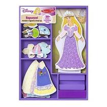 Rapunzel Madera Magnética Vestir Juego Set