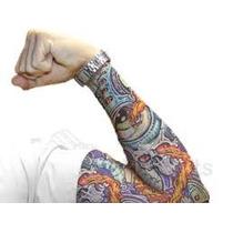 Remate Lote De Mangas Tatuajes Ideal Motociclistas
