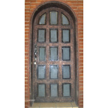 Puerta Reticula Residencial De Herreria Rustica Fina