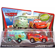 Cars 2 Fillmore Y Lightning Mcqueen Con Wheels Travel