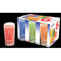 Regalos, Juego De 6 Vasos De Vidrio Japon,lote 450 Paquetes