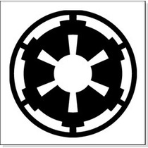 Sticker Vinil Autoadherible Star Wars Logo Imperial