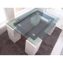 Mesa De Centro Marmol-cristal