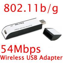 Adaptador Wifi Inalambrico 54 Mbps Usb Lan 802.11 G/b Mmy