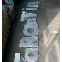 Letras De Trovicel Con Aluminio 10 Cm Alto Mas Acabados