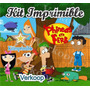 Kit Imprimible Phineas And Ferb + Candy Bar Souvenirs Fiesta