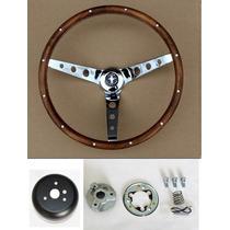 Volante 13 1/2 De Madera Para Ford Mustang 1965 - 1969