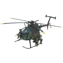Helicoptero Ah-6 Litle Bird Bbi 1/18 Ultimate Soldier Mdn
