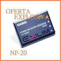 Bateria Recargable Np-20 P/camara Casio Ex-z75 Ex-z3 Ex-z60
