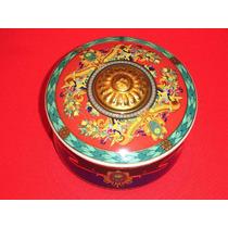 Versace Bombonera D Porcelana Rosenthal Oro 24 K Alemana Hm4