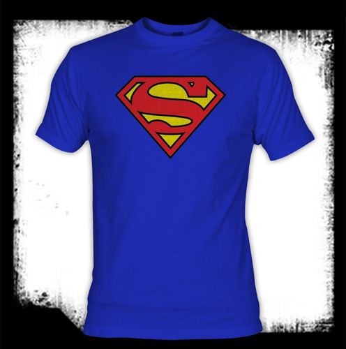 Superman - Logo Bordado Camiseta