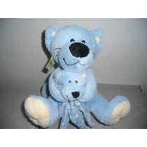 Gato Con Bebe Azul Suavecito $320.00 Css