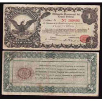 Si-df-1 Billete Del Distrito Federal De 1 Peso