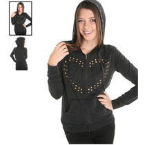 Hot Topic Sudadera A Fine Mess Heart Stud Hoodie