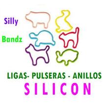 Lote De 100 Bolsas Silicon Pulseras Anillos Silly Bandz