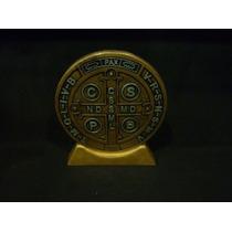 Hermosa Medalla De San Benito Abad En Resina