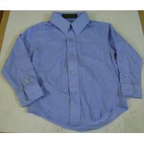 Camisa Manga Larga De Vestir Azul Bebe 24 Meses 2t