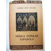 Libro, Eduardo López Chavarri, Música Popular Española