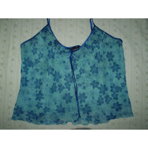 Jones Newyork Top Azul Turquesa Vaporosa Talla Xl