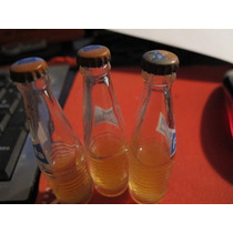 Set 3 Mini Botellita De Refresco Fanta De Vidrio 1970s