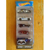 Set De 5 Hot Wheels Pelicula Batman Vs Superman Paquete Hw