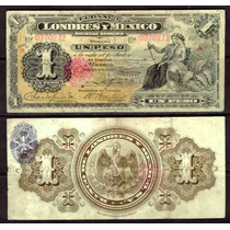 Bk-df-20 Billete Del Banco De Londres Y Mexico De 1 Peso