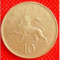10 New Penc 1975 Moneda Reino Unido Gran Bretaña Escocia Vbf