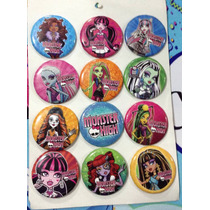 Aa Monster High 4 Docenas De Botones Fiesta