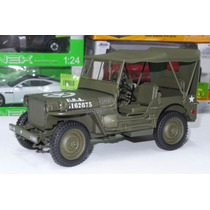 1:18 Jeep Willys 1/4 Ton Army Truck Con Techo Welly