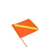 Banderola Naranja Para Aviso Precaución Vialidad Banderin
