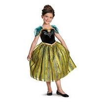 Disfraz Disney Congelado Anna Coronación Del Vestido De Lujo