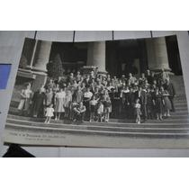 Fotografia Antigua Familia Excursion Pasteleria Amberes 1954